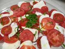 MMMM Caprese salad...