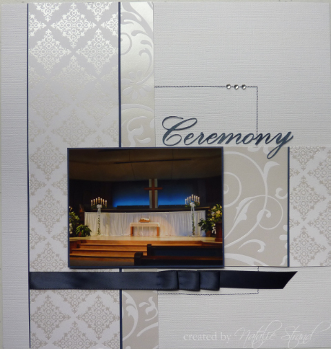 Wedding scrapbook album Ceremony layouts