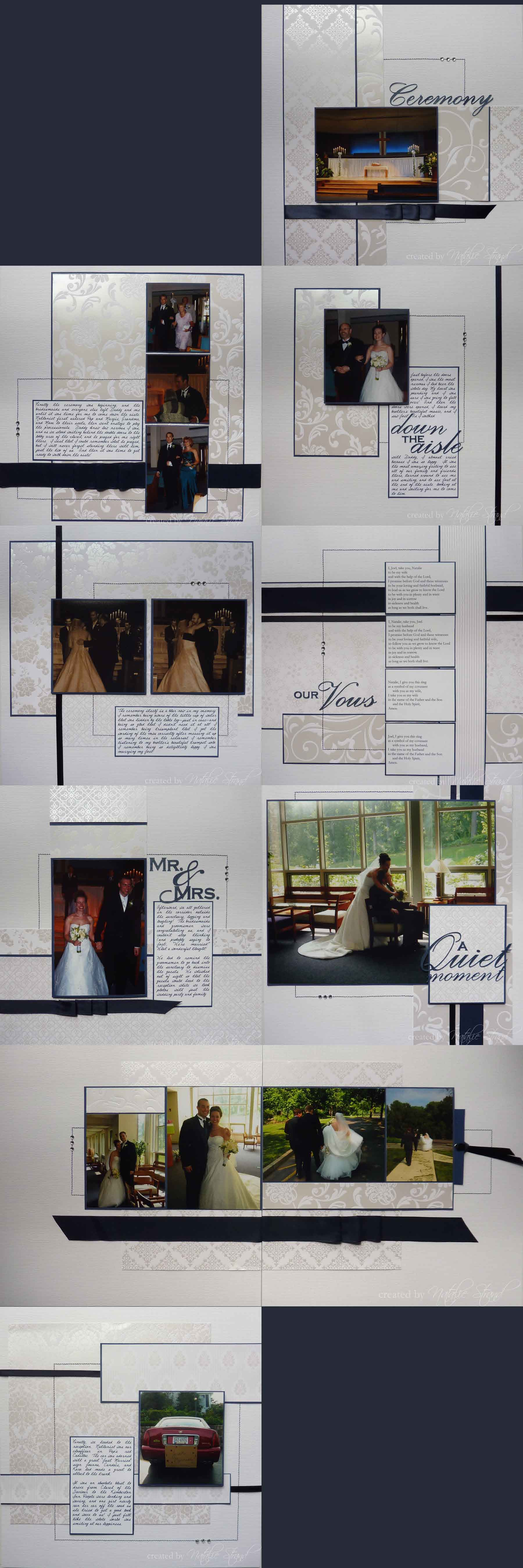 Scrapbook ideas wedding album