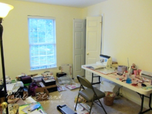 The recent state of my craft space...soon to be remedied!