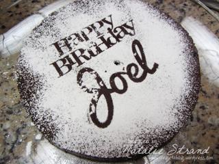 ATK flourless chocolate cake; Joel's birthday cake