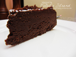 ATK flourless chocolate cake: Joel's birthday cake