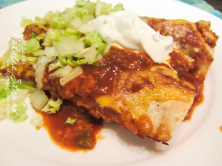 ATK chicken enchiladas