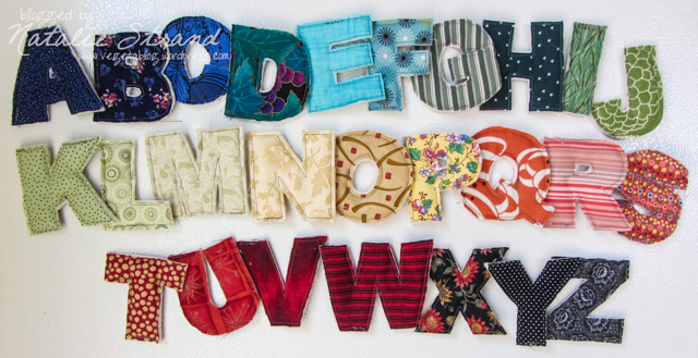 Fabric alphabet magnets   Vegetablog