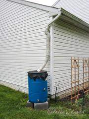 rain barrel set up