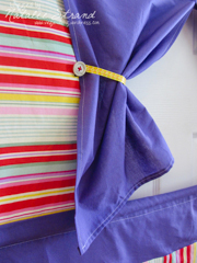 fabric in-the-doorway puppet theater for Ellie's birthday gift