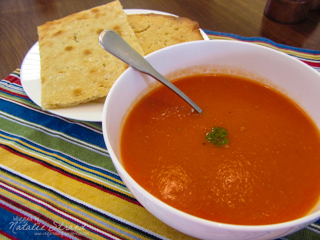 ATK creamless creamy tomato soup and pizza bianca