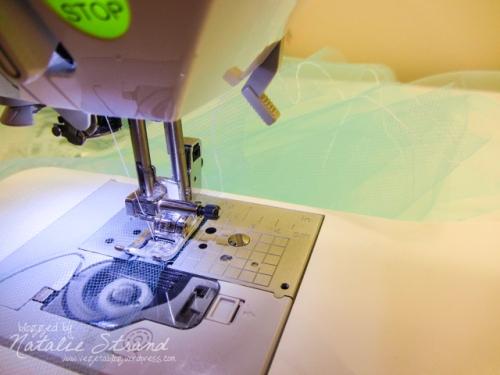 run a basting stitch along long edges (or fold) of each strip