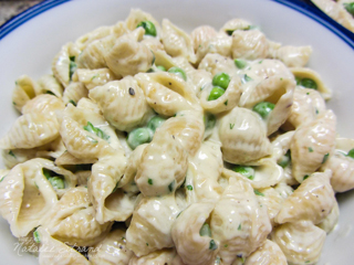 SK Sweet Peas and Shells Alfredo