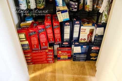 I have a ridiculous amount of pasta in the pantry closet right now...