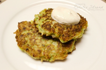 SK Leek Fritters with Lemon Garlic