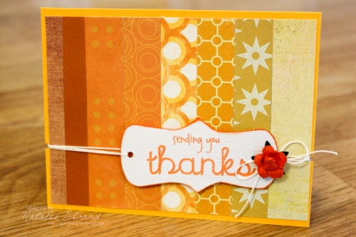 finished orange ombre card