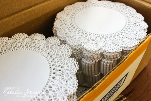 oh yes, I bought a case of 1,000 doilies.  And I am so excited!