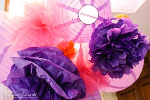 decorations for Dayna's bridal shower