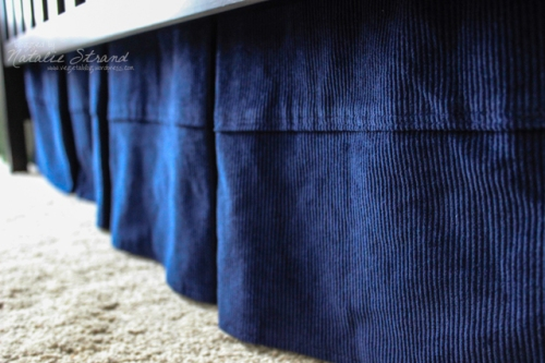 box pleat crib skirt for the baby's room