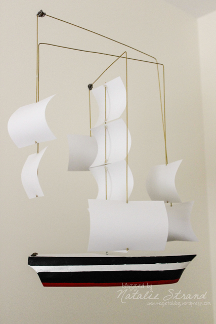 ship mobile made for our baby boy by Joel!