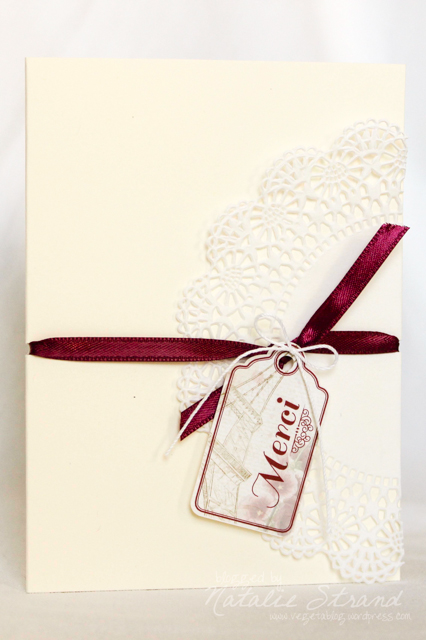 """Merci"" cards for vintage-rustic-French bridal shower gift"