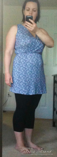 Crummy pic, but I got it hemmed. I really need to figure out a belt.