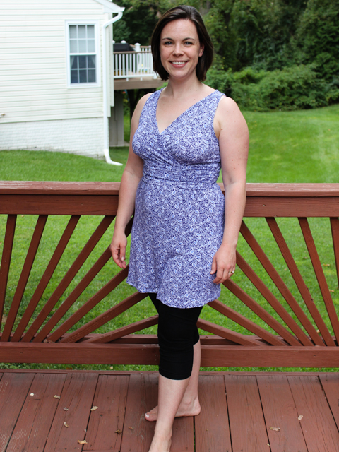 finished dress-to-tunic refashion project
