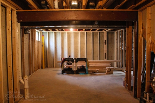 basement progress at the end of the day, 10/7/2014