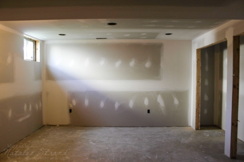 basement progress: even more drywall mudding