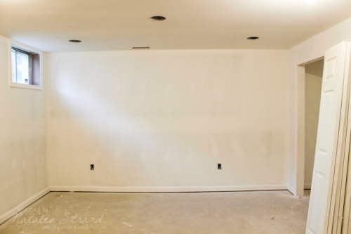 basement progress: painting started!! (primed)