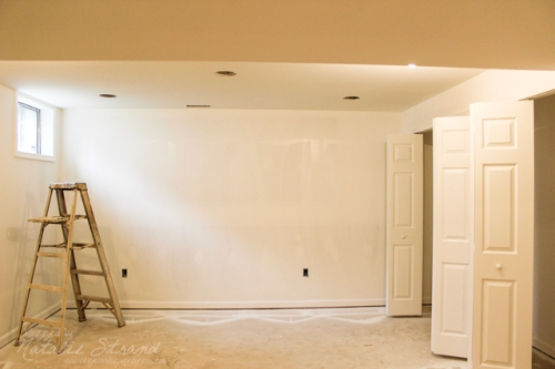 basement progress: painting--trim