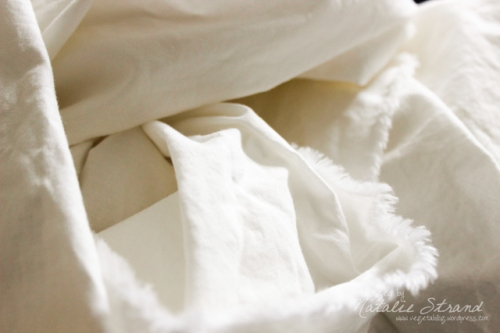 7.5 yards of white fabric!