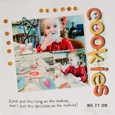 Vivian's first scrapbook page