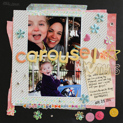 scrapbook layout made by Vivian