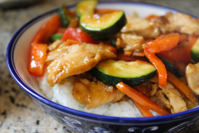 ATK stir-fried chicken and zucchini with ginger sauce
