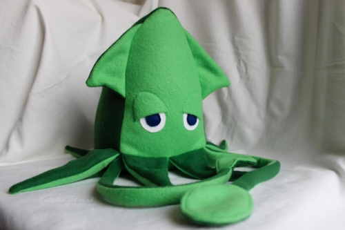 Stuffed Squid made from IkatBag Menagerie pattern