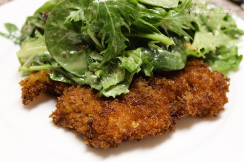 SK Mustard Milanese with Salad