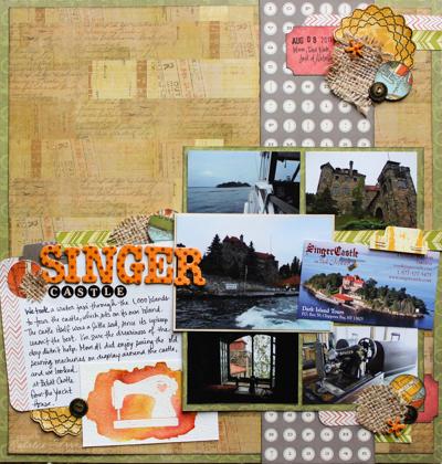 Singer Castle scrapbook layout