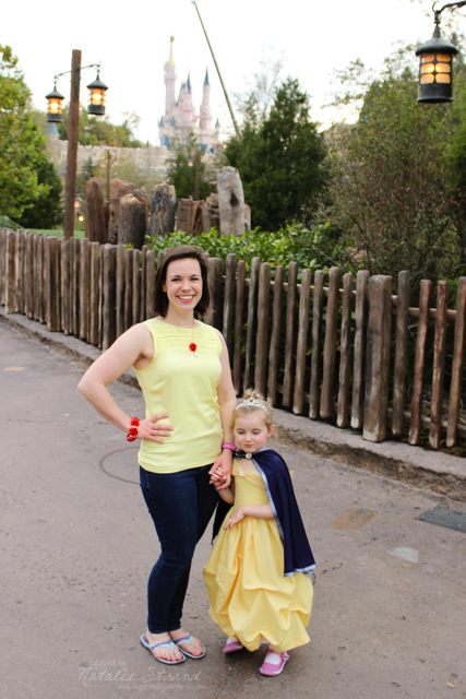 I Disney-bounded Belle today.  Vivian and I took some photos together!