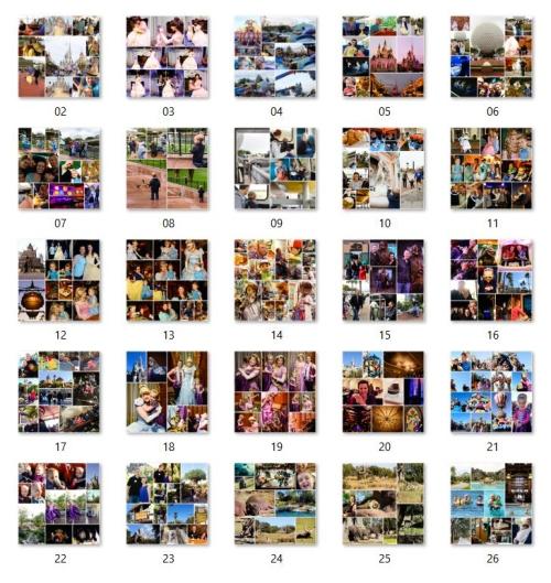 Disney photobook pages