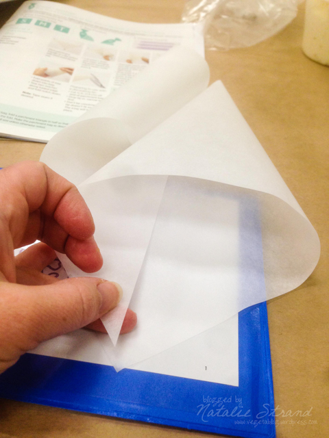 Wilton course 2, week 1: constructing a parchment paper piping bag