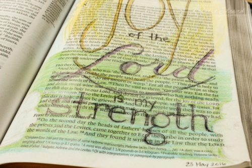 artful devotions: Nehemiah 8:10