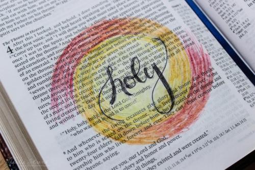 God is holy. Based on Revelation 4:8-11 and surrounding verses
