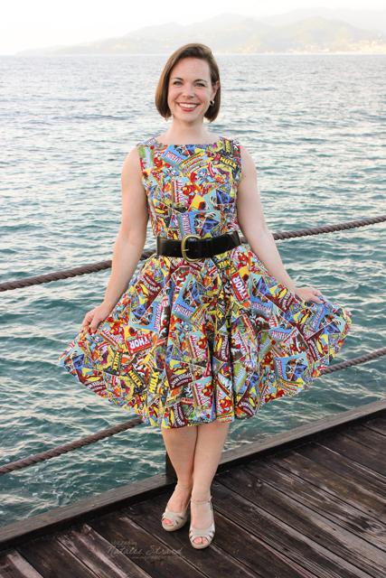 I wore my comic book dress tonight!