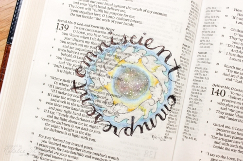 God is omniscient and omnipresent. Based on Psalm 139:1-12