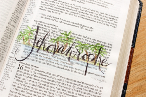 God is Jehovah-rophe, the God who heals. Based on Exodus 15:22-27