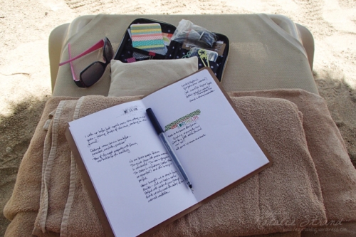 Yes, I worked on my journal at the beach.