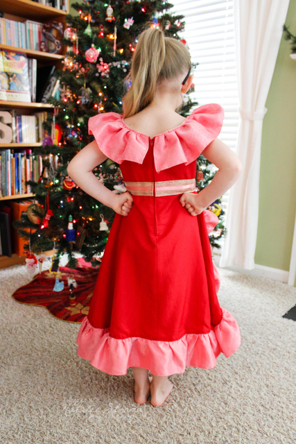 Elena dress: designed and sewn for Vivian for Christmas 2016