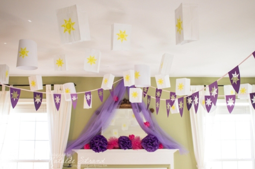 pennant banners and lanterns