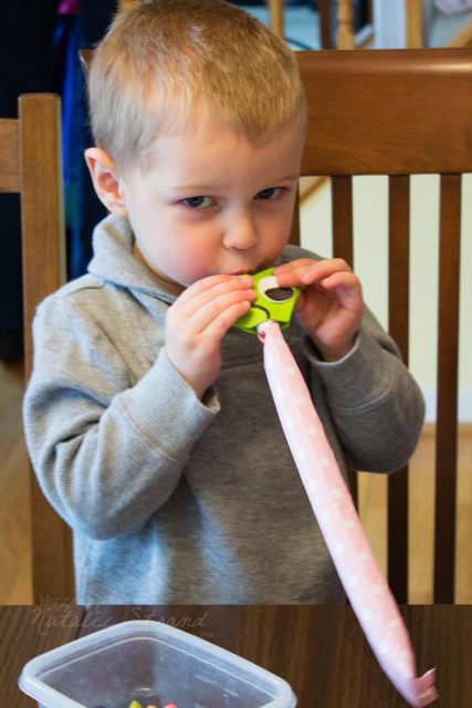 Becker made a Pascal blower with Mommy's help