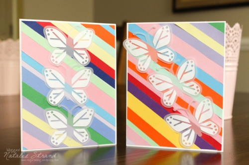 Vivian's finished paper strip cards