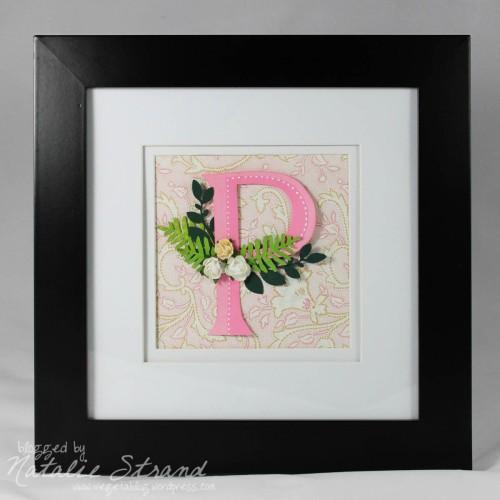 """floral """"P"""" monogram"""