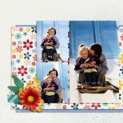 """Hersheypark 2015 photo book. Digital scrapbooking with the Sweet Shoppe Designs collaboration kit """"Create Something Beautiful"""""""