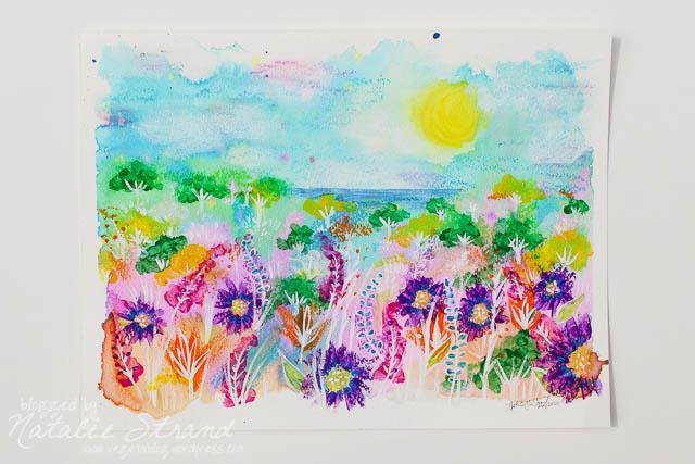 Mixed Media Landscape Painting Vegetablog